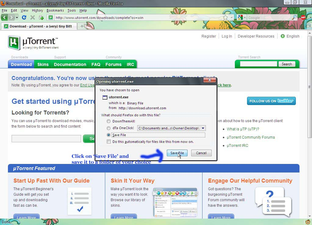 how to download shows on utorrent